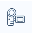 Digital video camera sketch icon vector image vector image