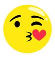 emoji kissing facial expression emoticon sticker vector image vector image