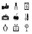 essence icons set simple style vector image vector image