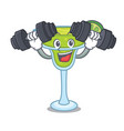 fitness margarita character cartoon style vector image
