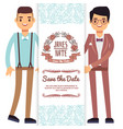 gay wedding banner flyer or poster template vector image vector image