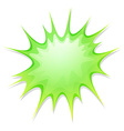 Geen explode on white vector image vector image