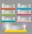 glass transparent rectangle set with colorful vector image vector image