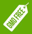 gmo free price tag i icon green vector image vector image