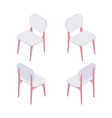 group of isometric of white chairs vector image vector image
