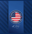 independence day design with us flag vector image vector image