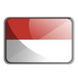 indonesia flag on white background vector image vector image