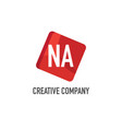 initial letter na logo template design vector image vector image