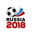 Logo Football Championship 2018 in Russia vector image