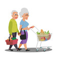 lovely store white nice couple old people vector image vector image
