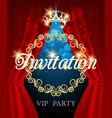 luxury invitation card vip party invite vector image