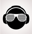 men dj in headphone print vector image vector image