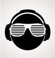 men dj in headphone print vector image vector image