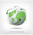 Modern green globe connections vector image vector image