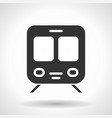 monochromatic train icon with hovering effect vector image vector image