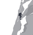 mountain hike adventure vector image
