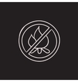 No fire sign sketch icon vector image vector image