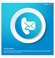 phone receiver and envelope icon vector image
