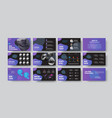 presentation slides with purple abstract design vector image