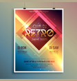 retro club theme party flyer template vector image