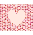 Saint Valentines Day Heart Frame vector image vector image