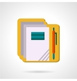 School supply flat color icon vector image vector image