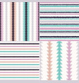 seamless ethnic tribal ikat stripes background vector image
