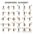 Semaphore alphabet flags on a white background vector image vector image
