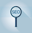 SEO search engine optimization magnifying glass vector image
