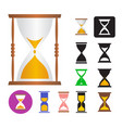 set an hourglass vector image