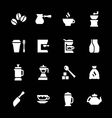 Set icons of coffee vector image vector image