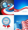 set of american independence day flag design vector image vector image