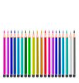 Set of Colored Pencils on White Background vector image vector image