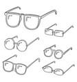 set of eyeglasses vector image vector image