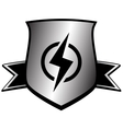 shield with lightning - power symbol vector image