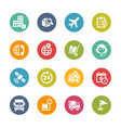 shipping and tracking icons - fresh colors series vector image vector image