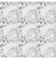 Sketchy doodles decorative lace pattern vector image