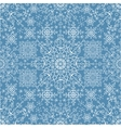 Snowflakes lace seamless patternNew year vector image