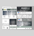 social media posts set business design templates vector image vector image
