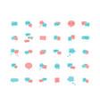 speech bubble flat icon set vector image