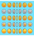 star gold silver coins rotation set vector image