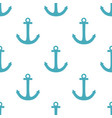 tile sailor pattern with blue anchor on white vector image vector image