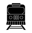 train city icon black sign vector image vector image