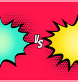 versus fight comic style background vector image