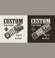 vintage motorcycle repair service logotype vector image vector image