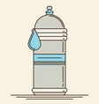 water bottle flat icon vector image vector image
