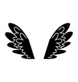 wings feathers angel bird freedom pictogram vector image vector image