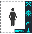 woman icon flat vector image vector image