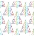 xmas tree pattern abstract christmas seamless vector image vector image