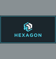 xu hexagon logo design inspiration vector image vector image